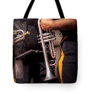 Music - Trumpet - Police Marching Band  Tote Bag by Mike Savad