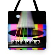 Music Is A Rainbow To The Heart Tote Bag by Andee Design
