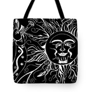 Musical Sunrise - Inverted Tote Bag