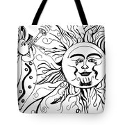 Musical Sunrise Tote Bag
