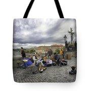 Musicians On The Charles Bridge - Prague Tote Bag