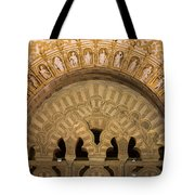 Muslim Arch With Christian Reliefs In Mezquita Tote Bag