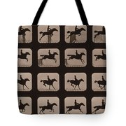 Muybridge Locomotion Horse Leaping Tote Bag