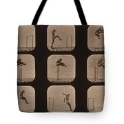 Muybridge Locomotion Of Man Jumping Tote Bag by Photo Researchers