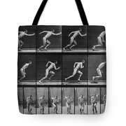 Muybridge Locomotion, Man Running, 1887 Tote Bag