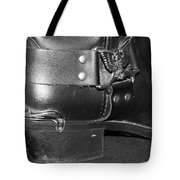 My Biker Cowboy Boot In Black And White Tote Bag