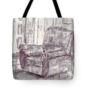 My Favorite Chair Tote Bag
