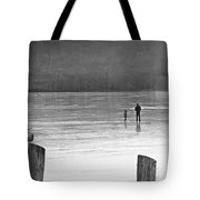 My First Walk On Water Bw Tote Bag