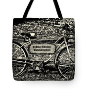 My Other Bike Is A Harley Davidson In Sepia Tote Bag