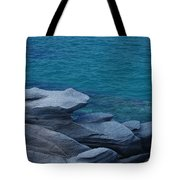 Mykonos Cliff Frog Greece Tote Bag