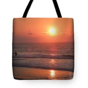 Mysterious Fisherman With The Sunrise Tote Bag