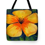 Mysterious Yellow Flower Tote Bag