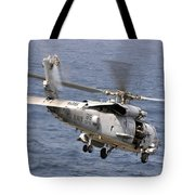 N Hh-60h Sea Hawk Helicopter In Flight Tote Bag