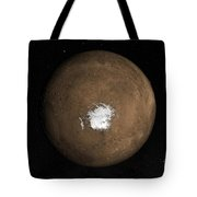 Nadir View Of The Martian South Pole Tote Bag