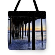 Nags Head Pier - A Different View Tote Bag by Rob Travis
