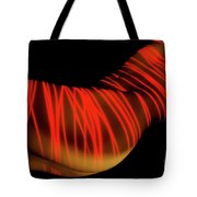 Naked Woman Body Painted With Laser Tote Bag