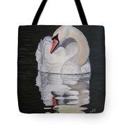 Napping Swan Tote Bag