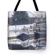 Narrowboats At The Boat Inn Tote Bag