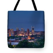 Nashville Cityscape 7 Tote Bag