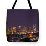 Nashville Cityscape 9 Tote Bag by Douglas Barnett