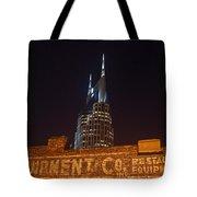 Nashville Downtown Night Scene Tote Bag by Douglas Barnett