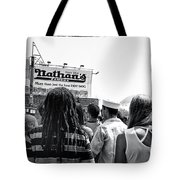 Nathan's Crowd In Coney Island 2 Tote Bag