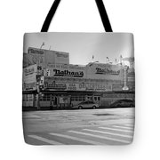 Nathan's Original In Black And White Tote Bag