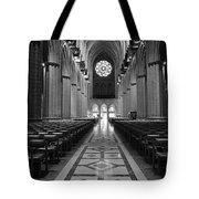 National Cathedral Interior Bw Tote Bag