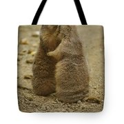 National Zoo 2 Prarie Dogs Sitting Tote Bag