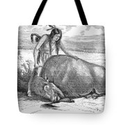 Native Amerians: Cutting Buffalo Tote Bag