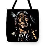 Native American Elder Tote Bag