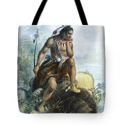Native American Hunter Tote Bag