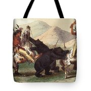 Native American Indian Bear Hunt, 19th Tote Bag
