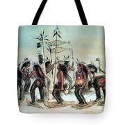 Native American Indian Snow-shoe Dance Tote Bag