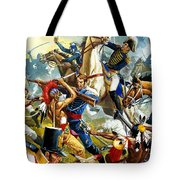 Native American Indians Vs American Soldiers Tote Bag