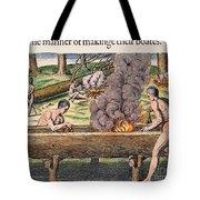 Native Americans: Canoe, 1590 Tote Bag