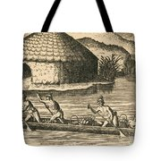 Native Americans Transporting Crops Tote Bag