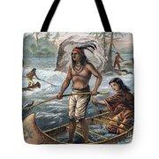 Native Americans/fishing Tote Bag