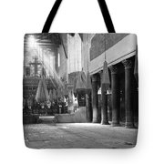 Nativity Pillars Tote Bag