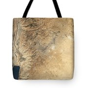 Natural-color Satellite View Of Amman Tote Bag
