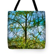 Nature's Church Windows  Tote Bag