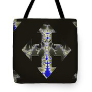 Nautical Cross Tote Bag