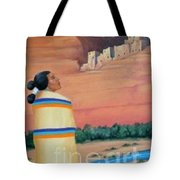 Navajo Woman Tote Bag
