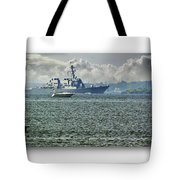 Naval Ship Tote Bag