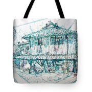 Navigli City Of Milan In Italy Portrait Tote Bag
