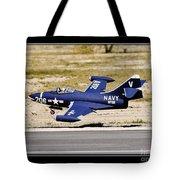 Navy Landing Tote Bag