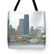 Navy Pier And Vicinity Tote Bag