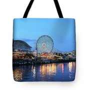 Navy Pier Chicago Digital Art Tote Bag