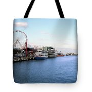 Navy Pier Chicago Summer Evening Tote Bag