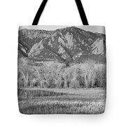 Ncar And Flatiron View Boulder Colorado Bw Tote Bag